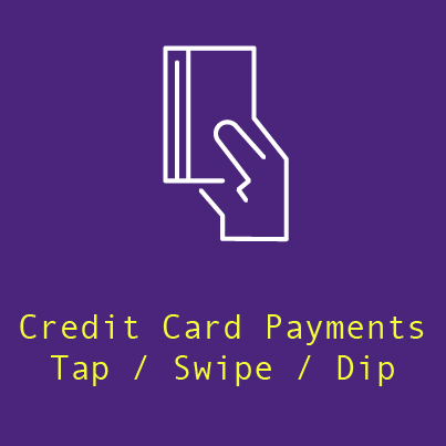 2. Cardholders that want to earn credit cardrewards tap, swipe, or dip as usual. - Also compatible with Apple Pay® and Samsung Pay® too!