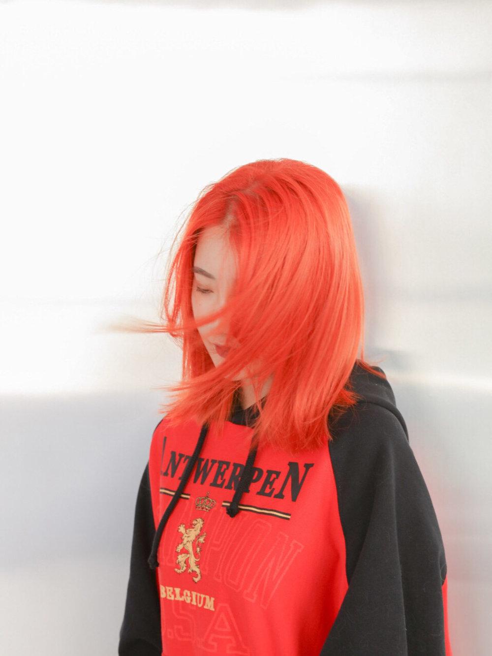 Bright orange - MENUWhole-head bleach, Colour, CutPRICEapprox. $590(Whole-head bleach medium $280, Second bleach $80, Colour $160, Cut from $70)TIMEapprox. 4 hours