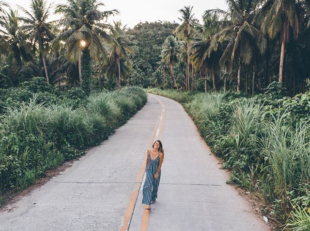 When even the roads are pretty, you make your Husbabe take a photo of you with them. . . . . . . #dametraveler #sheisnotlost  #wearetravelgirls #femmetravel #girlsborntotravel #girlaroundtheworld #girlsabroad #travelgirlsgo #thetravelwomen #ladiesgoneglobal #girlswithgypsysouls #globelletravels #thefairytalebloggers #pinktrotters #girlslovetravel #girlsthatwander #sohoton #travelgirl #travelgram #islandhopping #globelletrotters #femmetravel  #ladieslovetravel #dirtybootsmessyhair #socorro #siargao #phillippines #girlaroundtheworld