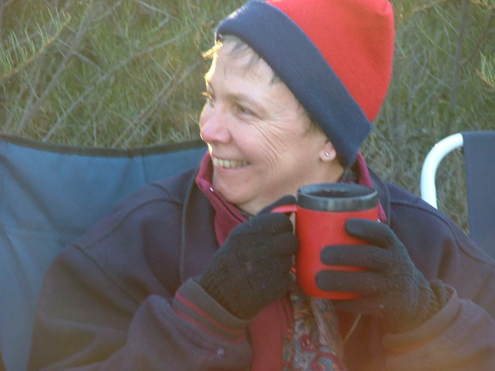 "Marg Robinson   As a capital ""N"" novice I first travelled in the Australian desert in 2002 with Ian. I was deeply impacted by the ancient beauty and stillness of this land, amazed at the integrity and variety of ecosystems and plant microsystems, and found great joy in travelling with new and familiar companions. After the journey I felt the spaces around my heart had become larger and my spirit more open. It is still an enormous privilege and spirit reviver to be out there, whatever the weather."