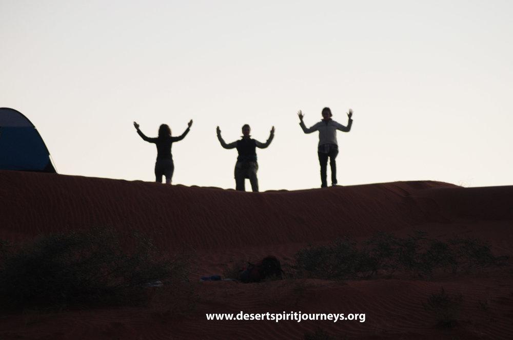 Community exercise on dune.jpg