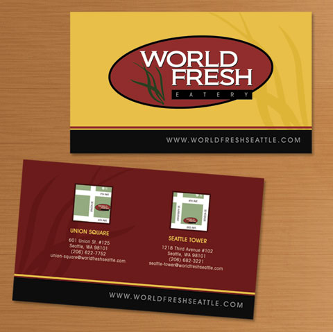 World Fresh Eatery  (2007) Business card designs