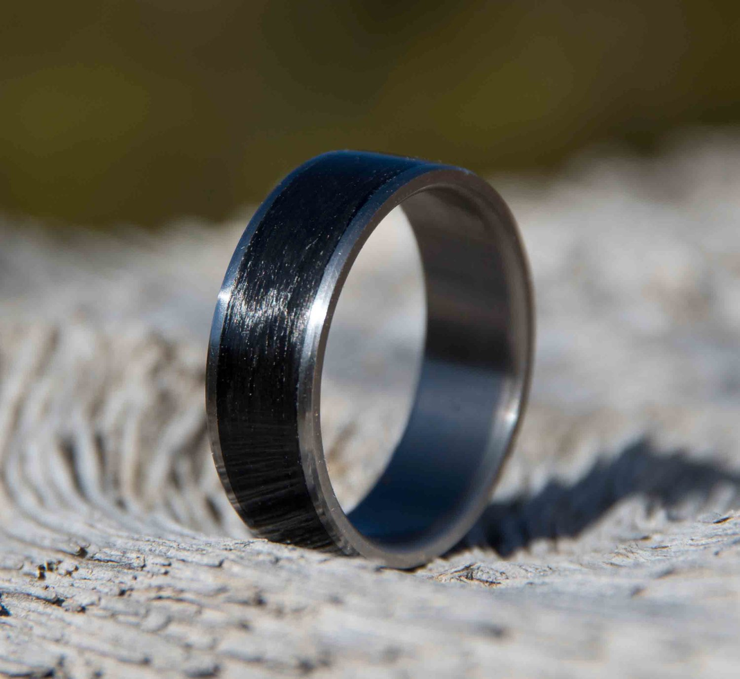 wedding rings carbide carbon fiber itm blue band tungsten celtic black mens ring