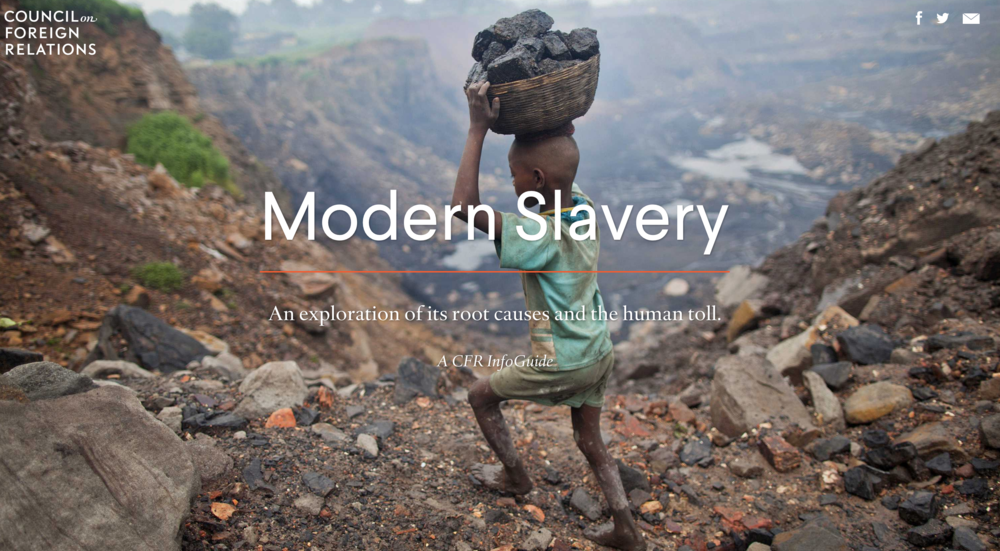 Council on foreign relations: Modern slavery -