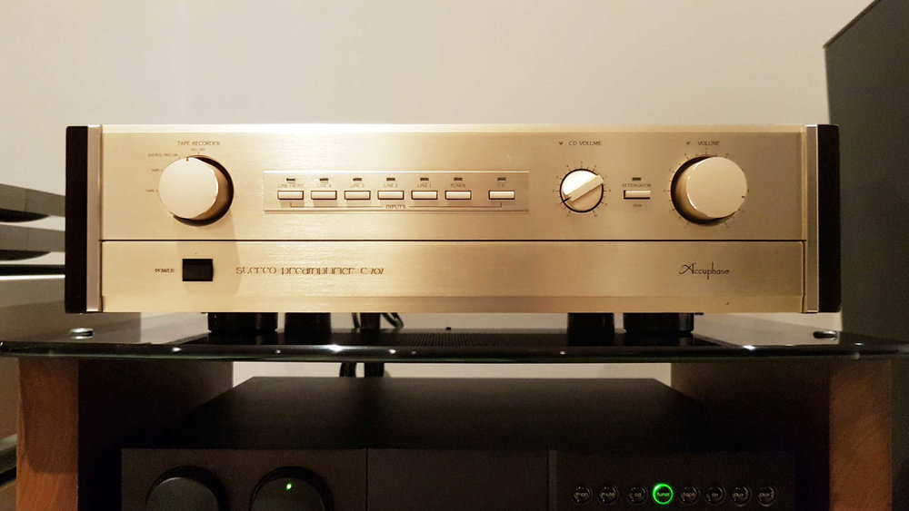 Accuphase C-202 Class A Line Preamp $1,050 - SOLD - This Class A line preamp sounds enticingly musical, rich, and tube-like while retaining very good detail. Built like you would expect Accuphase to beNo box or manual SOLD