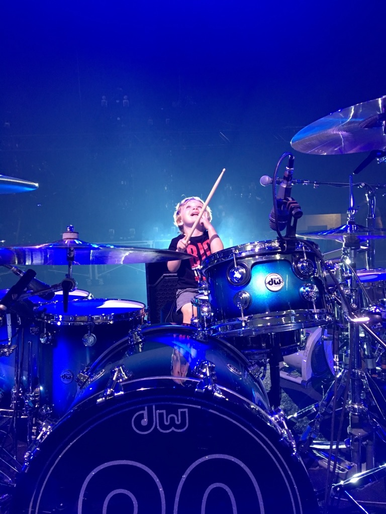 Axel on Jim's kit in Nashville.jpg