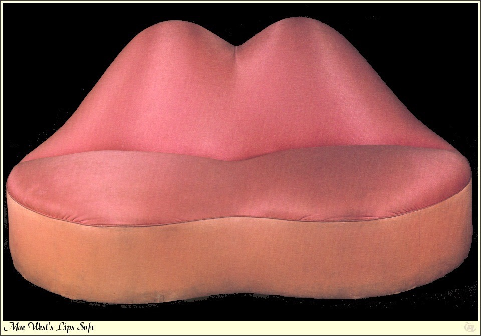 Mae west lips sofa, 1937 by salvador dali