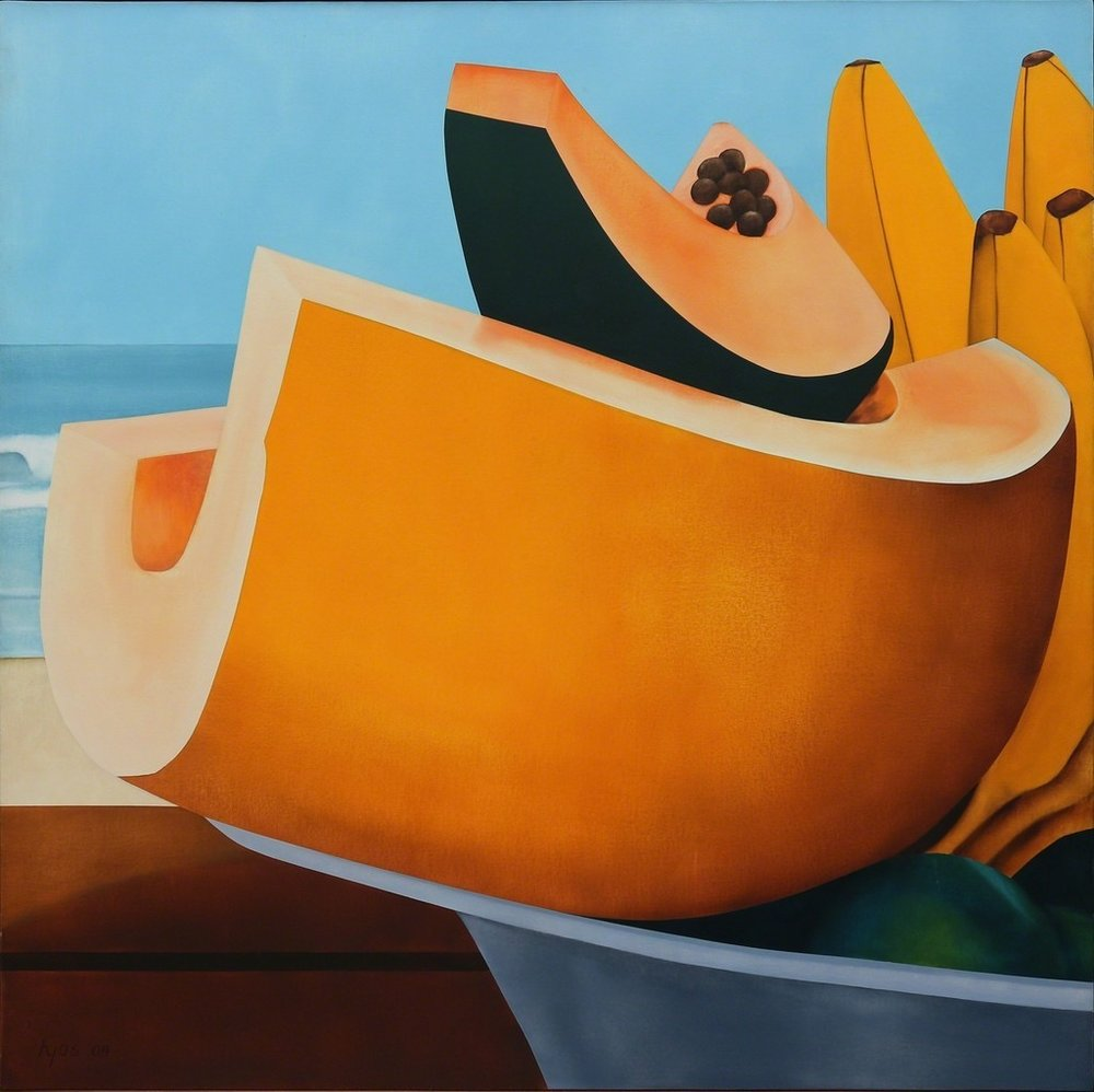 Ana Mecedes Hoyos (Colombian, 1942-2014) Still Life (Melon) 2004, Oil on Canvas
