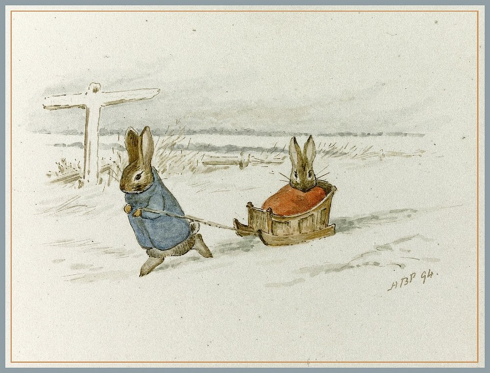 Lovely Christmas Illustration by Beatrix Potter