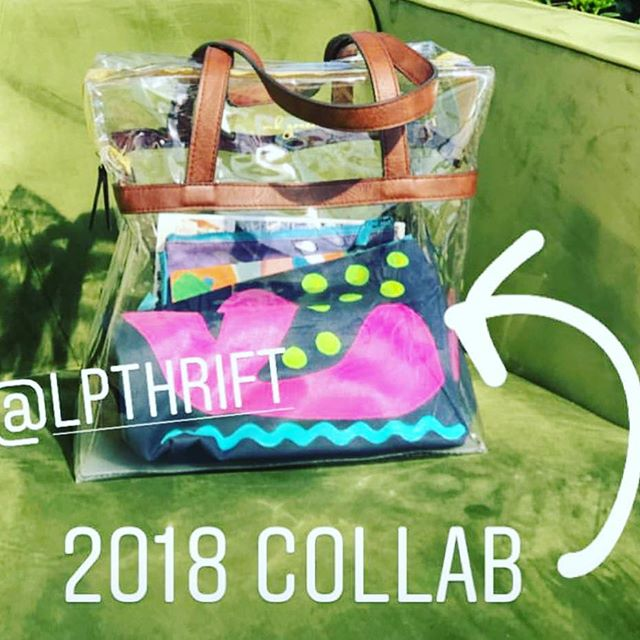Reposting a pic from @mbgreenebags ☀️ I didn't make it to the #tscsummit this year, but glad our collaboration made it to Sea Island.  The hand painted zip pouch looks great in the clear tote. @thesouthernc #connectcollaboratecreate