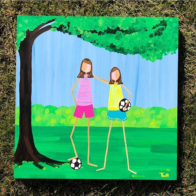SPRING is finally here.....and our backyard is filled with blooming flowers and the joyous sounds of children floating over the fence.  These sweet soccer girls were a commissioned gift from wife to husband.  I just bet they are enjoying the sunshine after a long wet winter. ☀️#lptfamilyportraits