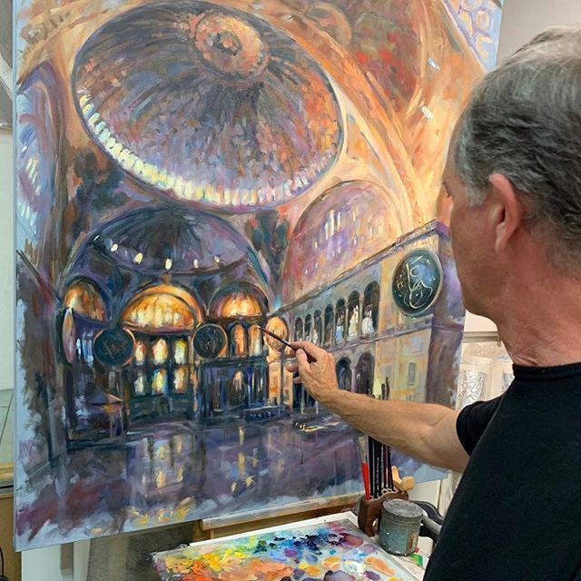 Back on Haifa Sophia's 'Grand Space' after a 3 year break. Oil on canvas 120c150 cm. @mestariaofficial @dubaiculture @desertart @mestariaofficial @dubaiculture @alfahidineighbourhood @artforumuae #artuae #mikearnoldart #mestaria #alfahidihistoricalneighbourhood #dubaiart #dubai #uaeart #artuae #dubaiculture