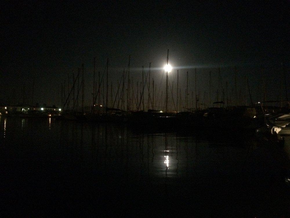 Au port des Embiez, où le soleil n'annonce pas encore la nouvelle journée. Pourtant, il est l'heure de se lever...