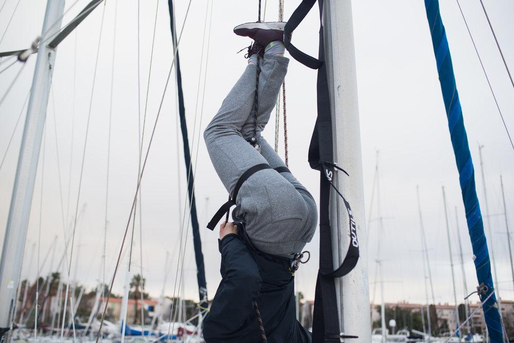 Tests sécurité et exploration des possibles pour le spectacle sur voilier - mars 2018