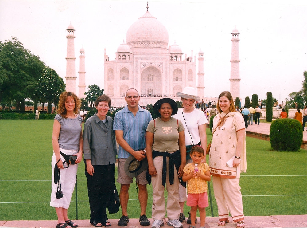 Visiting the Taj Mahal in 2005 with co-workers.