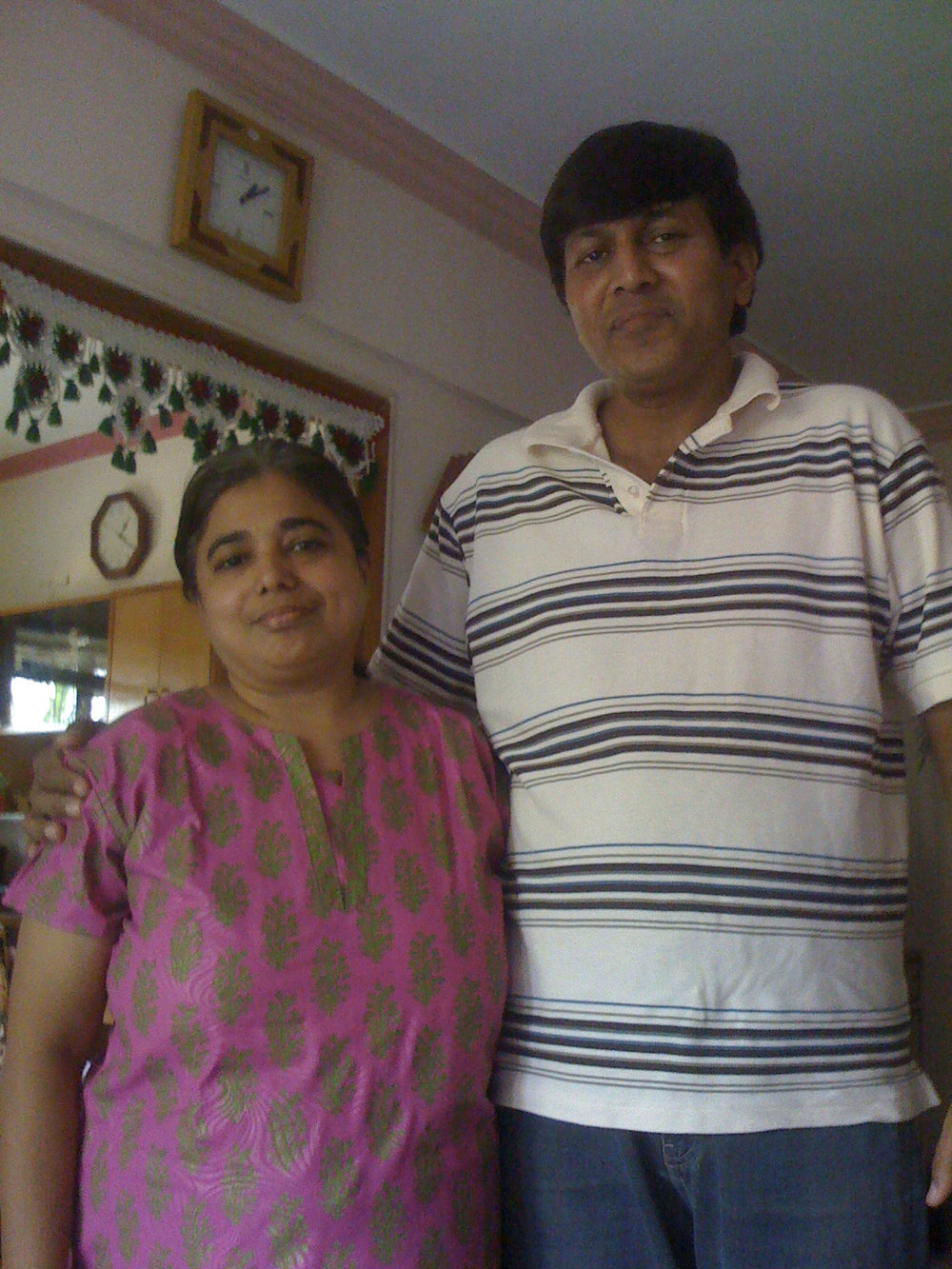 My wonderful hosts, Rajeshree and her husband, Rajeshree in 2009.