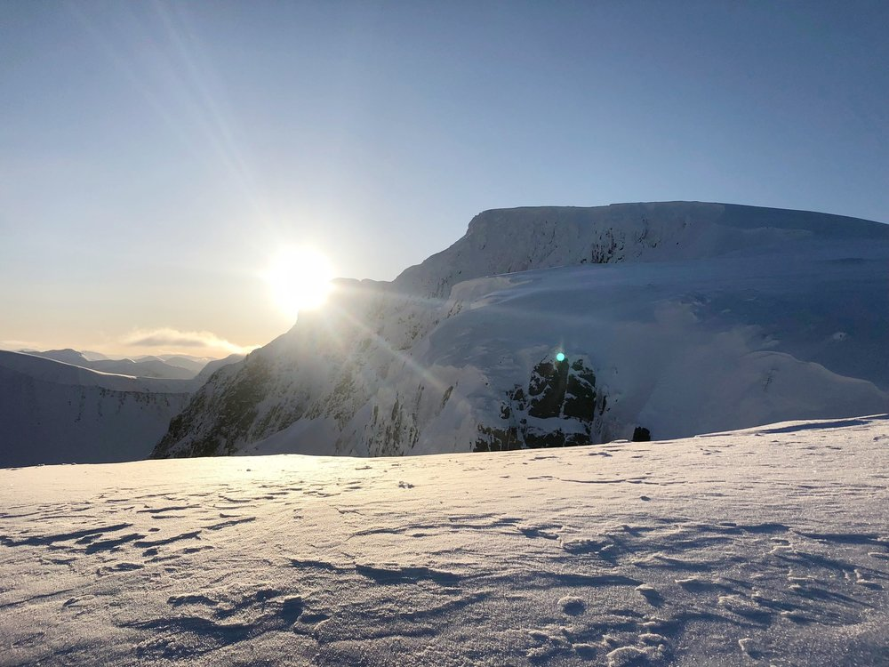 Sunrise on Ben Nevis