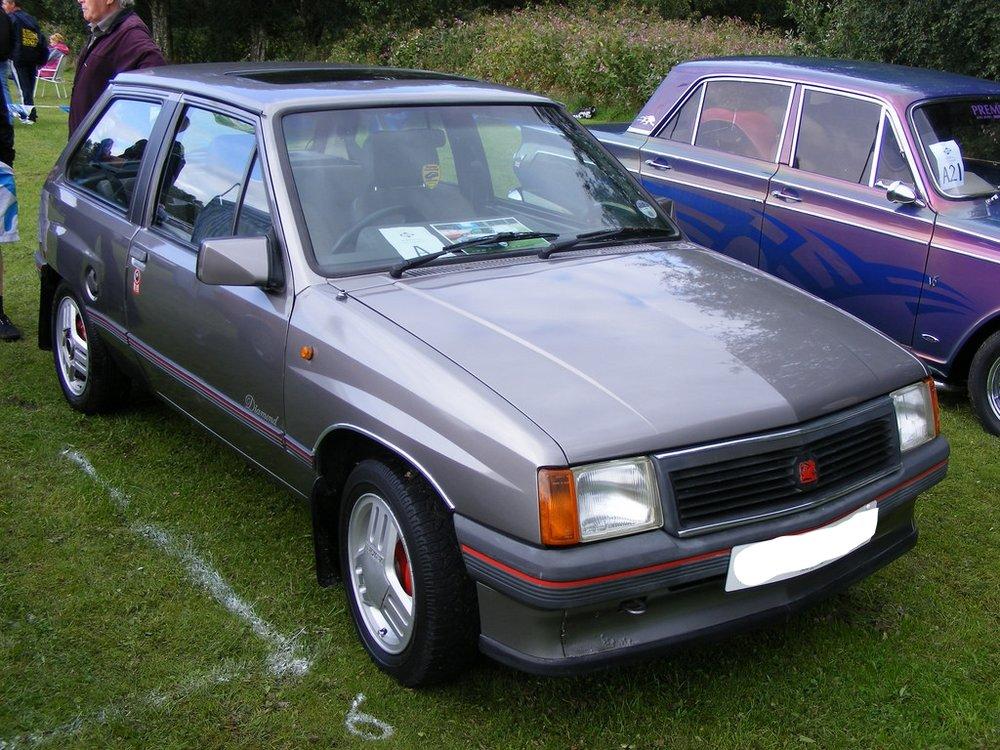 Marcus's second car. Vauxhall Nova hatchback