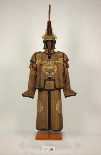 Mandarin Military Dress, Wallace Collection, after conservation supported on customised 3-D form