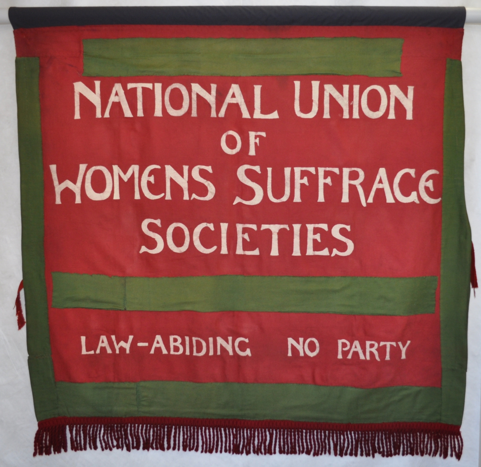 Banner, after treatment with pole sleeve attached