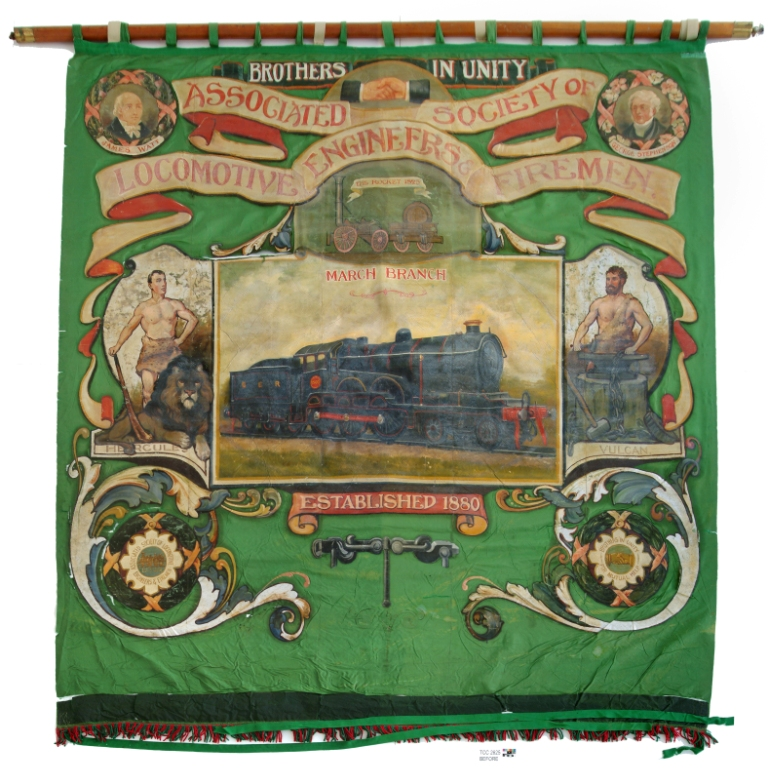 Banner, before treatment