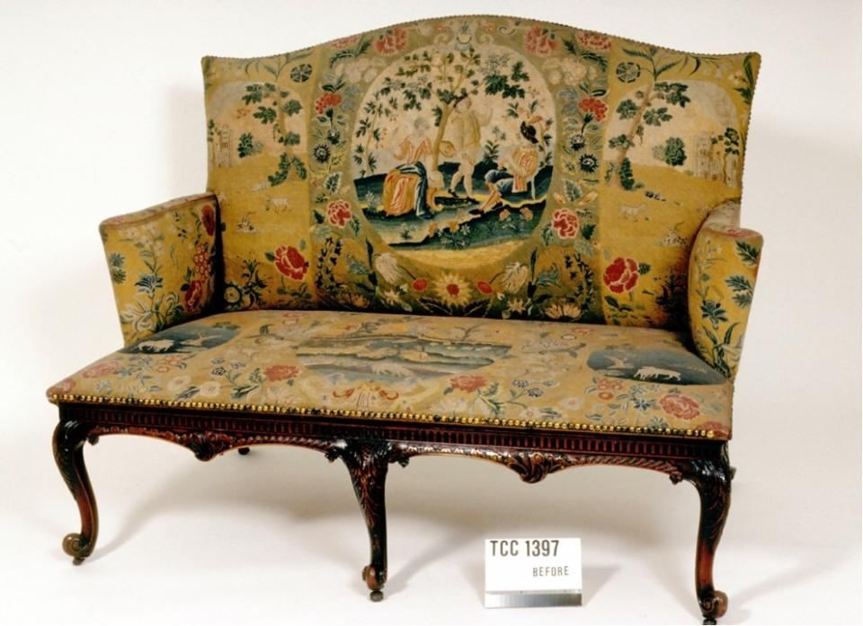 Settee, before conservation