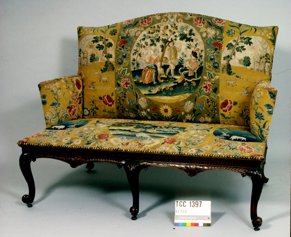 Settee, after conservation