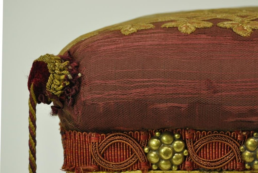 Detail of the footstool, after treatment
