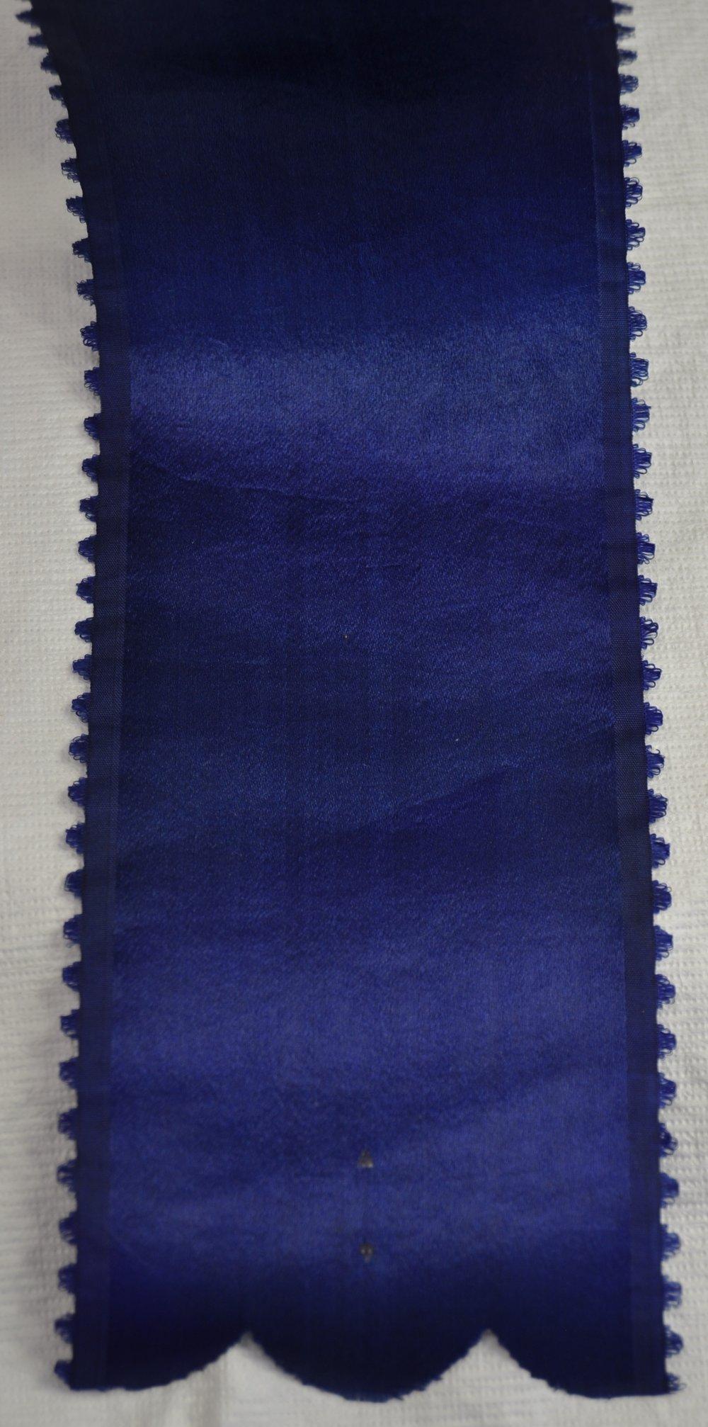 Ribbon detail, after conservation