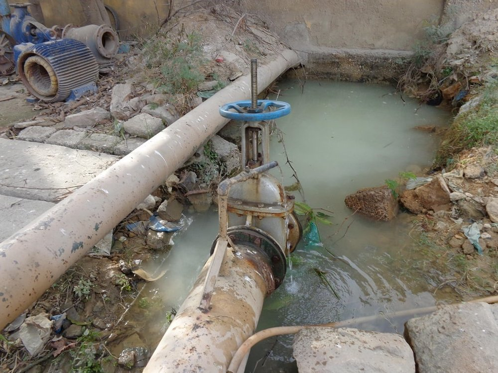 A water pumping station in west Karachi.