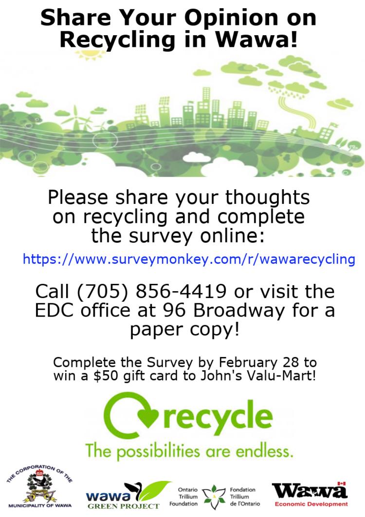 Share your opinion on recycling in Wawa — JJAM FM RADIO (CJWA)