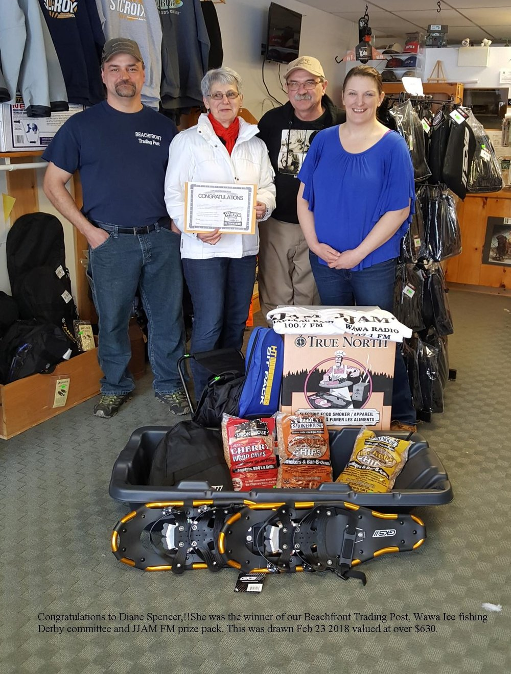 Feb 23 2018  Beachfront Trading Post, Wawa Ice Fishing Derby& JJAM FM Prize Pack Winner
