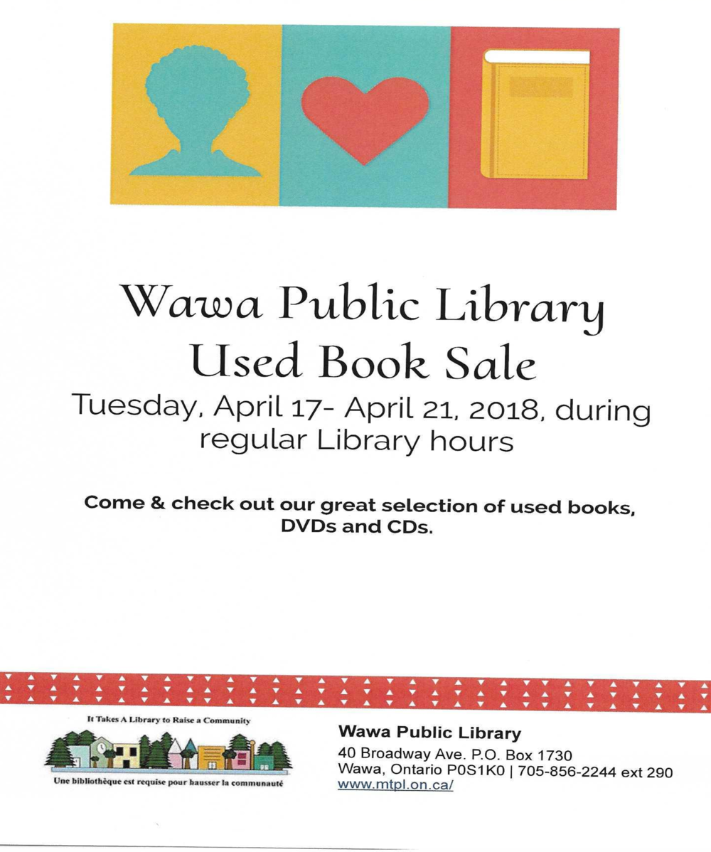Wawa Public Library-Used Book Sale — JJAM FM RADIO (CJWA)