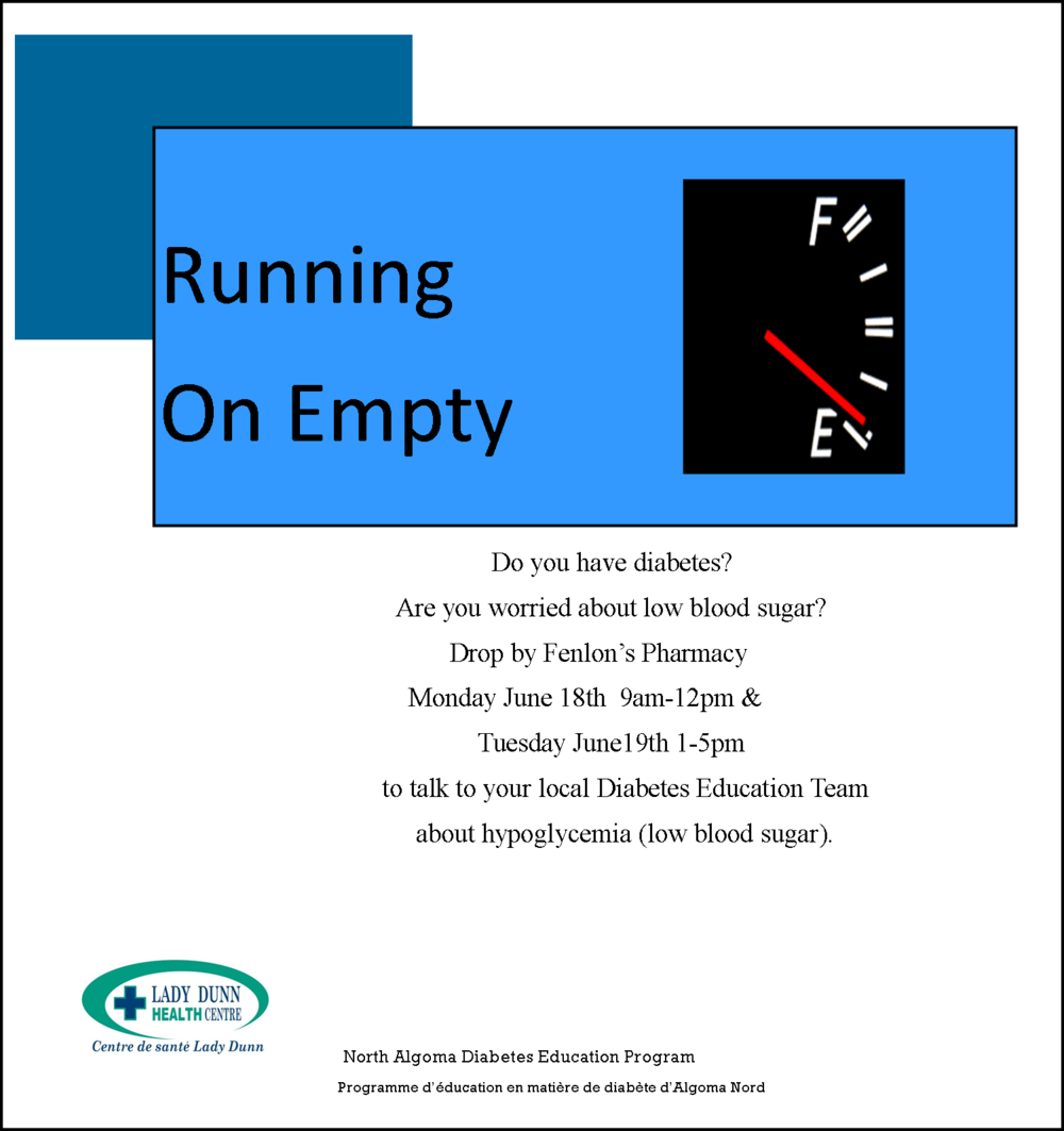 WAWA- RUNNING ON EMPTY- DIABETES EDUCATION — JJAM FM RADIO (CJWA)