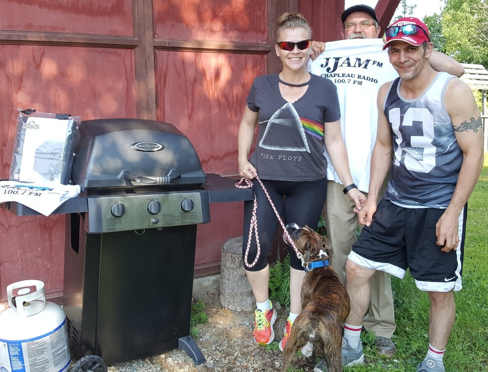 June 29th Winner of the Ultimate BBQ from Monuments Carriere and JJAM FM- Drawn June 29 2018