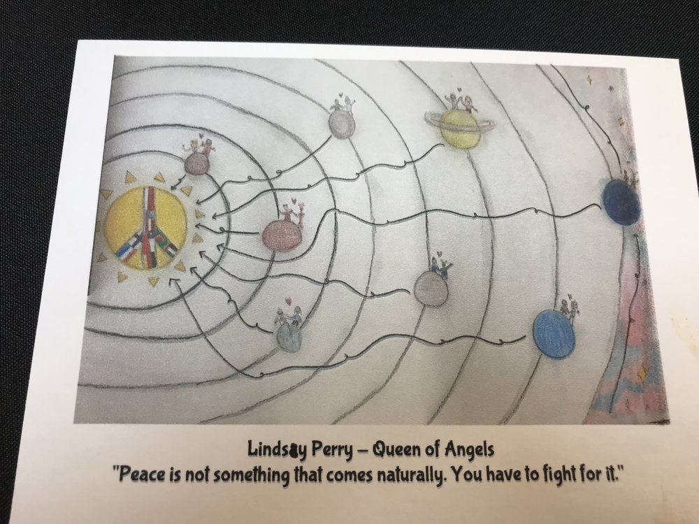 Lindsay Perry - Queen of Angles Catholic School  2017 Roswell Lions Club Peace Poster Contest
