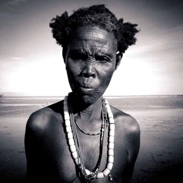 A traditional healer near the village of Illeret in northern Kenya. Photo by  Neil Shea