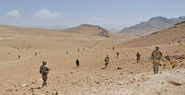 U.S. troops search for the enemy in Wardak Province, Afghanistan.  Photo by  Neil Shea