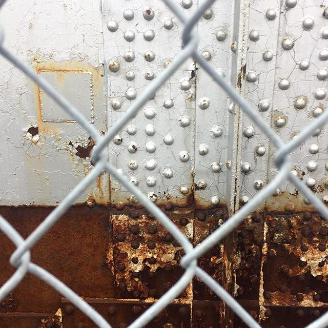 metallic|rust . . . . . #bridge #metallic #rust #chainlink