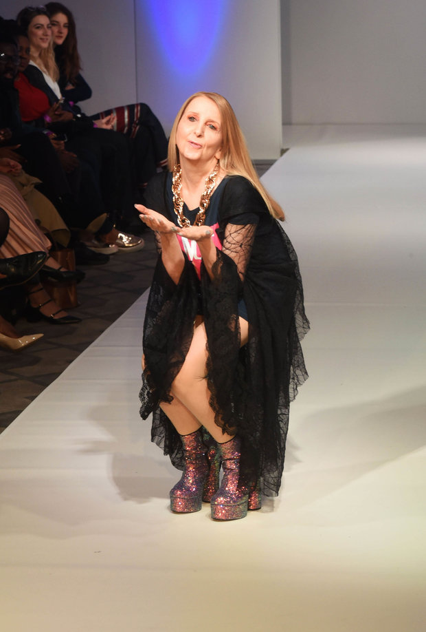 gillian mckeith on catwalk for afton mckeith.jpg