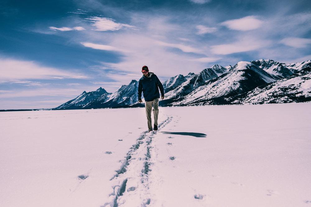 Frozen Jackson Lake