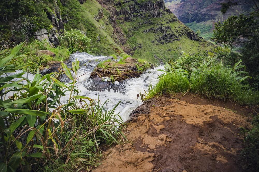 Top of Waipo'o Falls