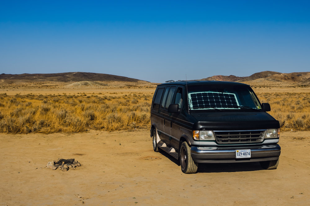 BLM dry lake bed - free power from solar