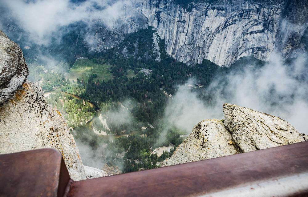 Yosemite Valley floor from Glacier Point