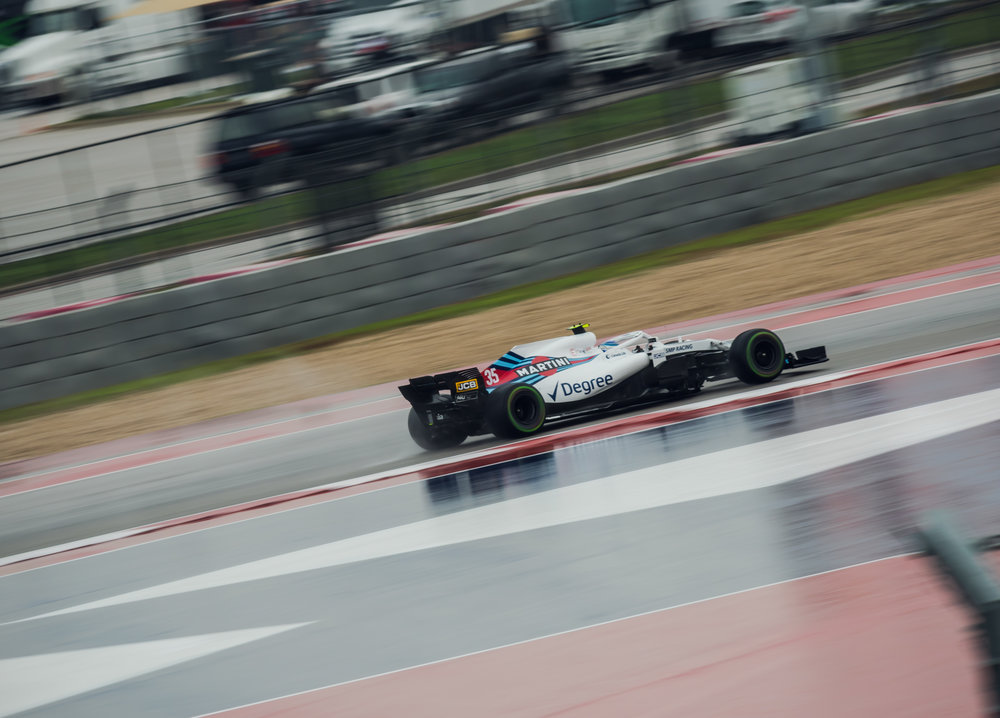 Wet practice all weekend wasn't very representative of raceday conditions