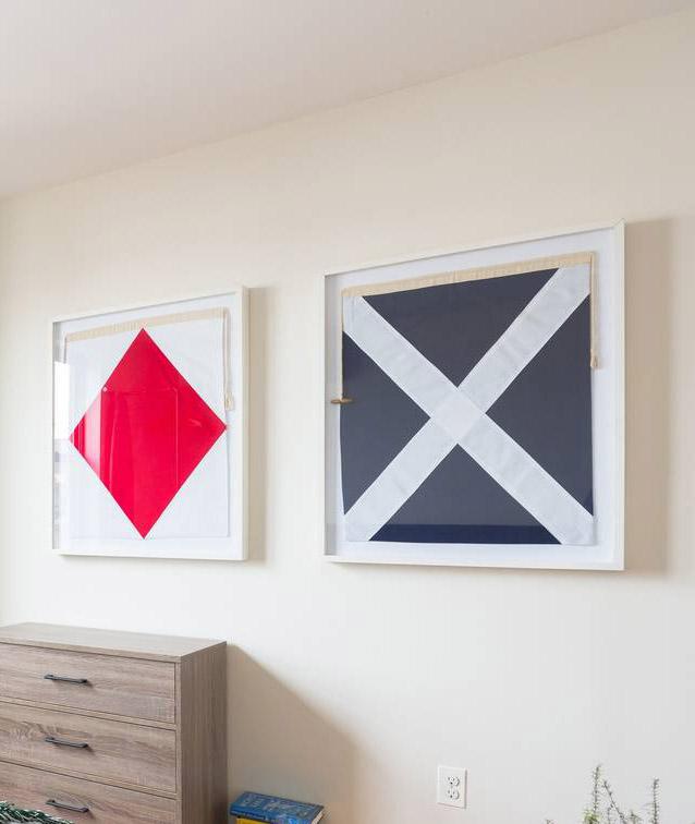 Addison   Framed Nautical Flags