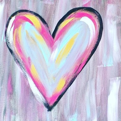 Happy 💜 Day • Canvas and Coffee join us 10:30 am tomorrow • mommy and me activity with your little love 💘
