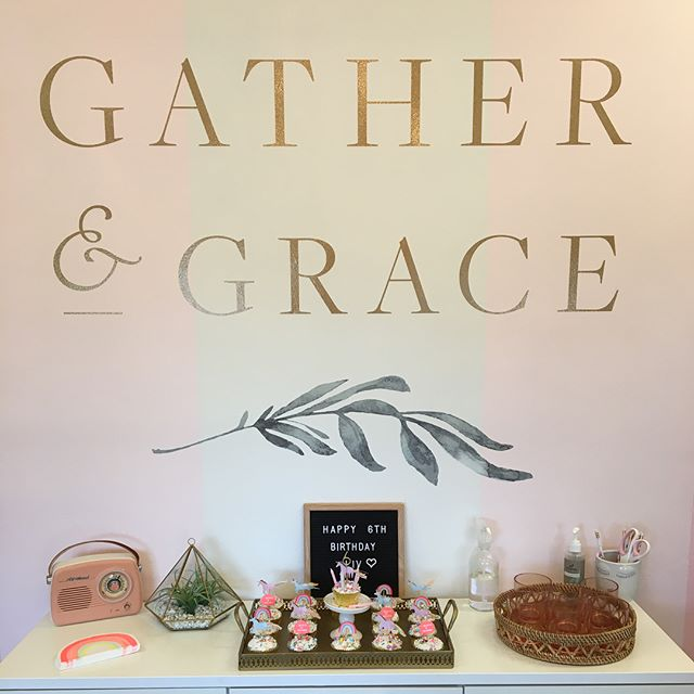 A special someone turns SIX and we are party ready! #birthdaygirl #gatherandgrace #northcountyparty #birthdayfun #wordrocksproject