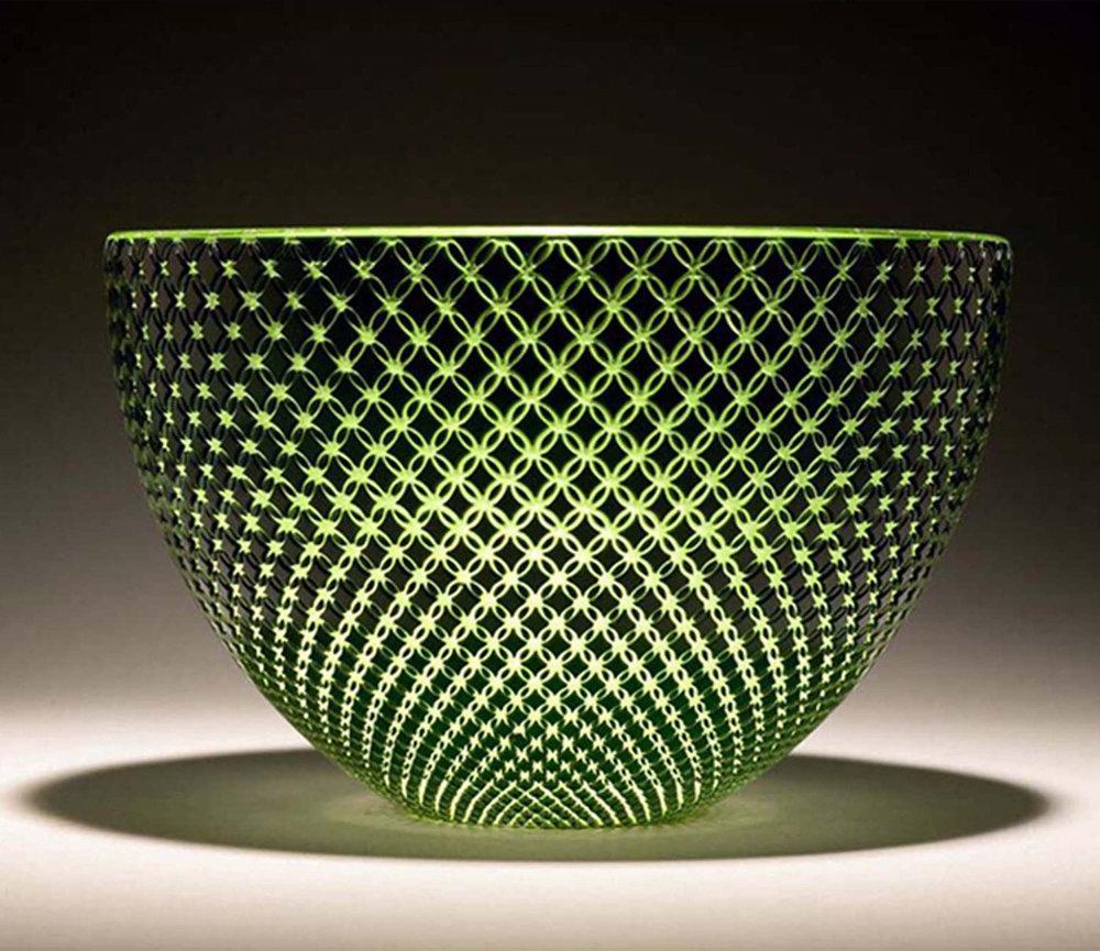 Green Diamond Bowl