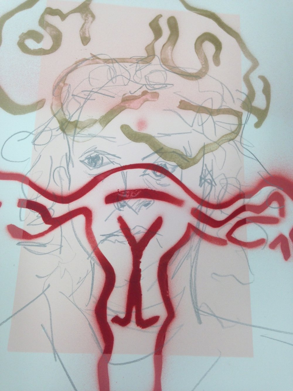 self portrait with uterus.JPG